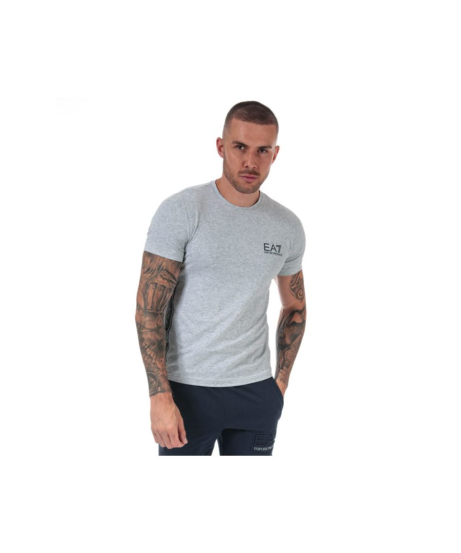 Image for Men's Emporio Armani EA7 Logo Tape T-Shirt in Grey