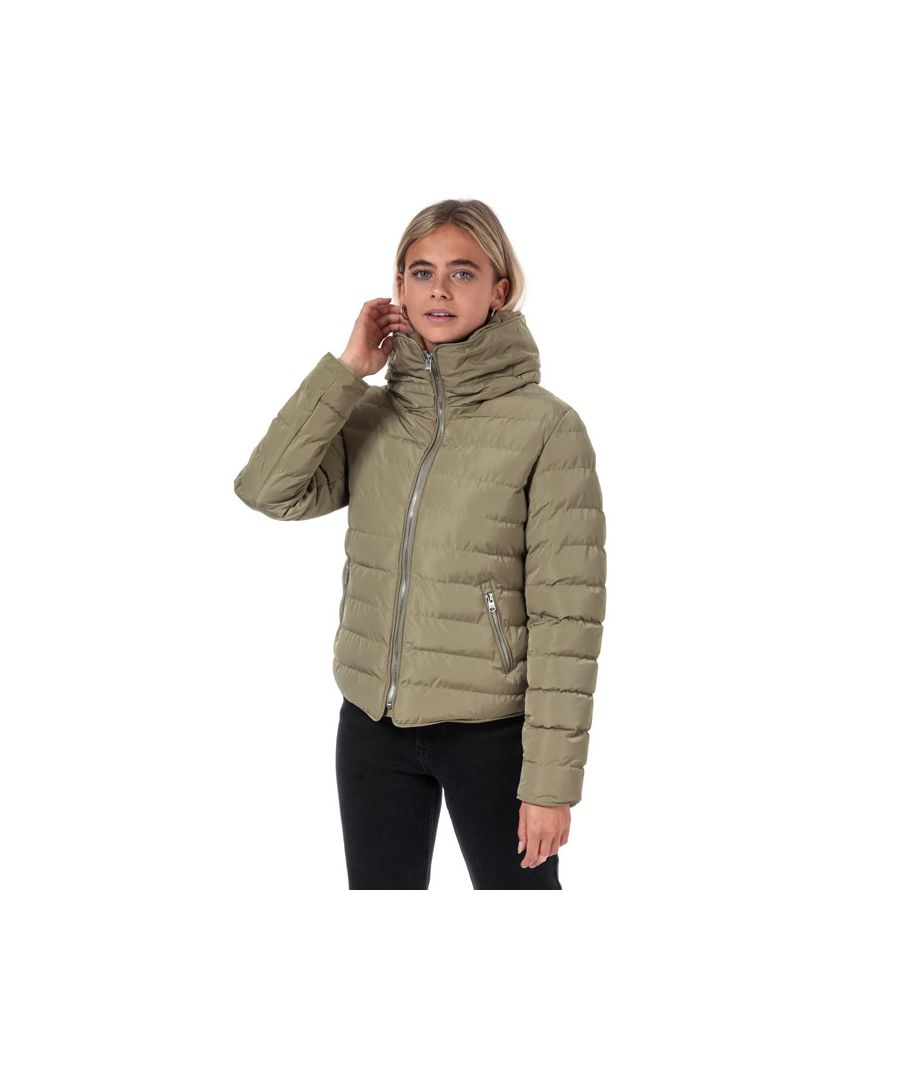 Image for Women's Tokyo Laundry Quince Quilted Puffer Jacket in Taupe