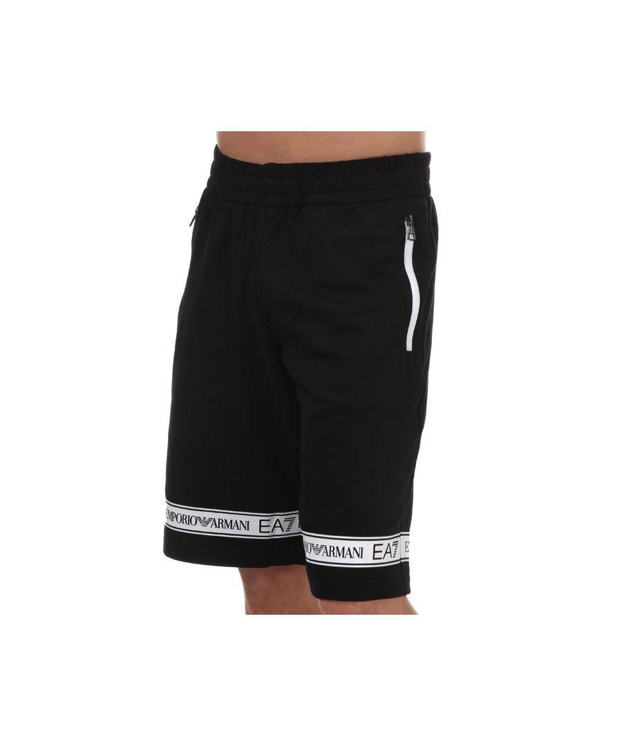 Image for Men's Emporio Armani EA7 Tape Logo Jog Shorts in Black