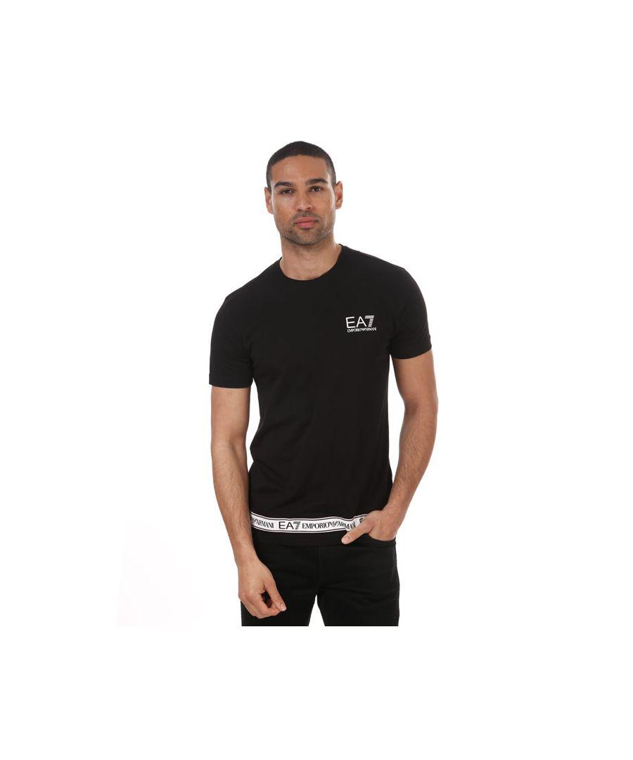 Image for Men's Emporio Armani EA7 Rubber Logo T-Shirt in Black