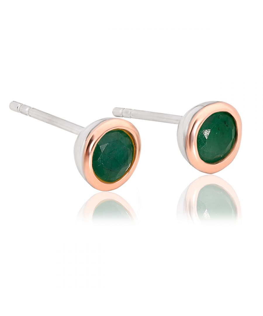 Image for Emerald May Birthstone Earrings