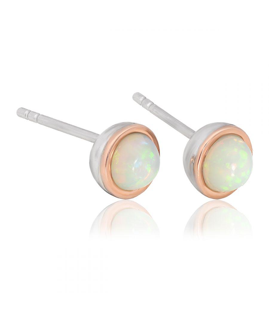 Image for Fire Opal October Birthstone Earrings