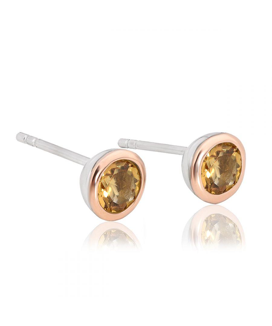 Image for Citrine November Birthstone Earrings