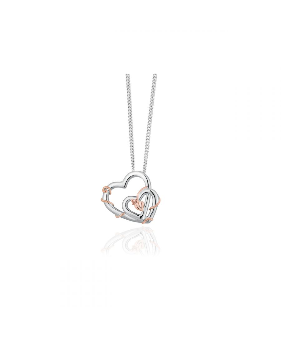 Image for Silver & Rose gold Tree Of Life Vine Pendant