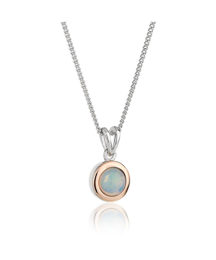 Image for Fire Opal October Birthstone Pendant