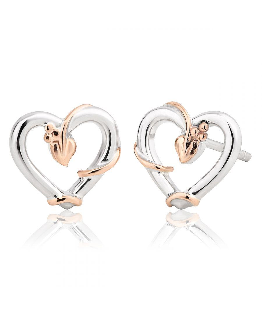 Image for Tree of Life Vine Heart Stud Earrings