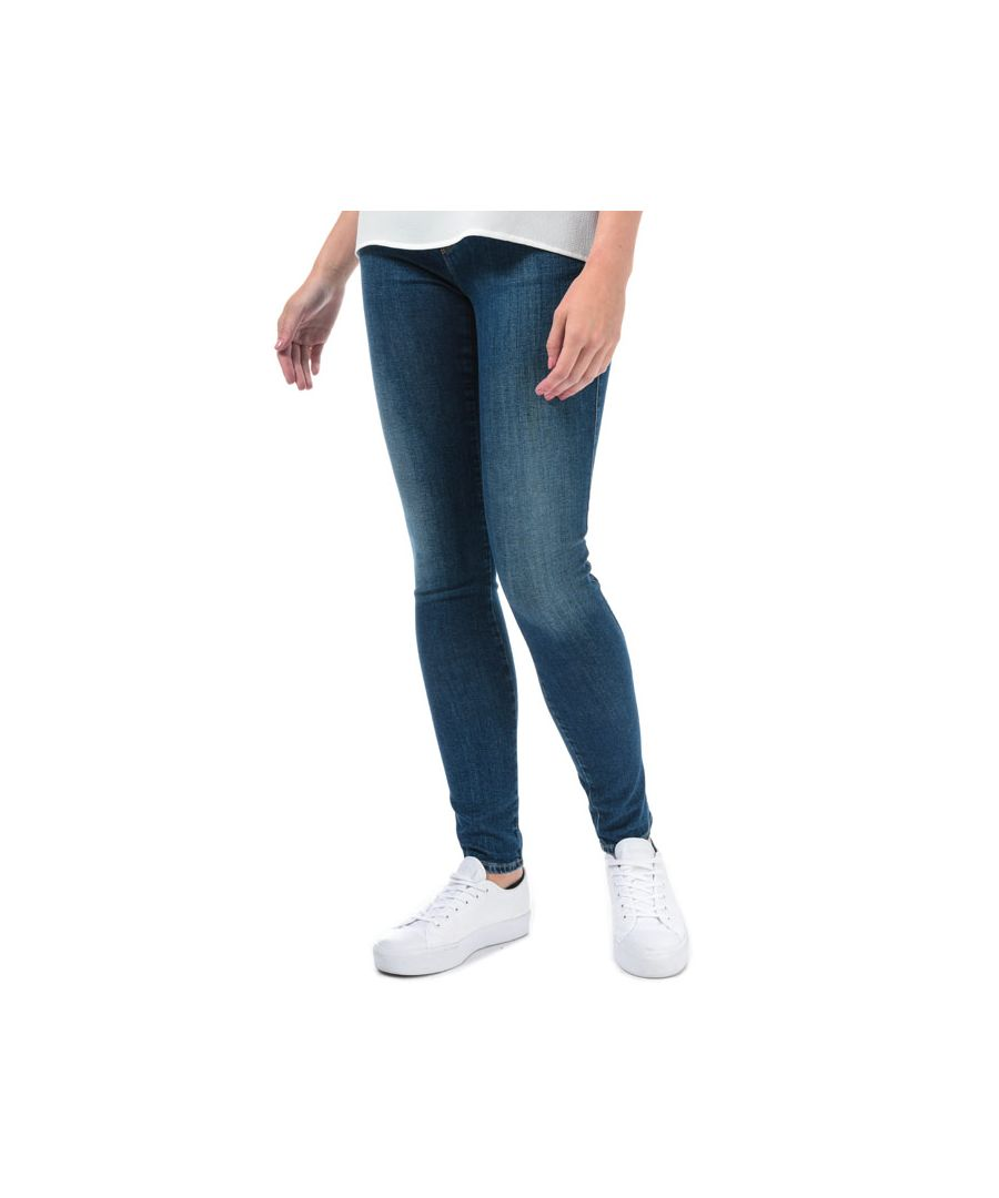 Image for Women's Armani J28 Skinny Fit Jeans in Dark Blue