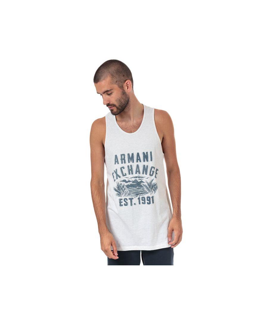 Image for Men's Armani Exchange Large Logo Vest in Grey
