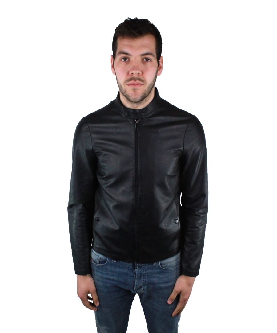 Image for Emporio Armani 3Z1BM5 1LBAZ 999 Leather Jacket