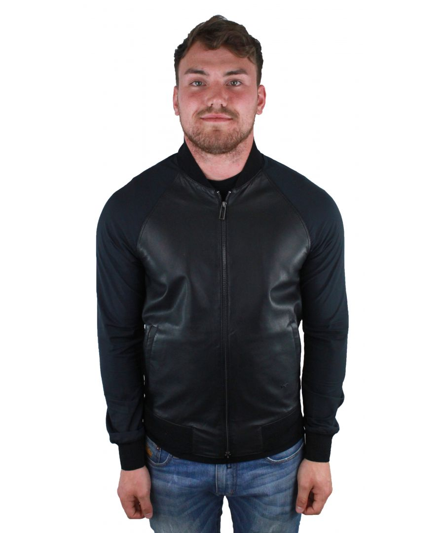Image for Emporio Armani 3Z1BM6 1LBAZ 0999  Leather Jacket