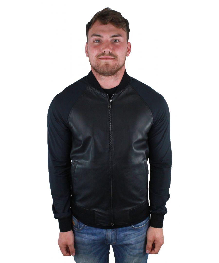 Image for Emporio Armani 3Z1BM6 1LBAZ 0999  Leather Jacket