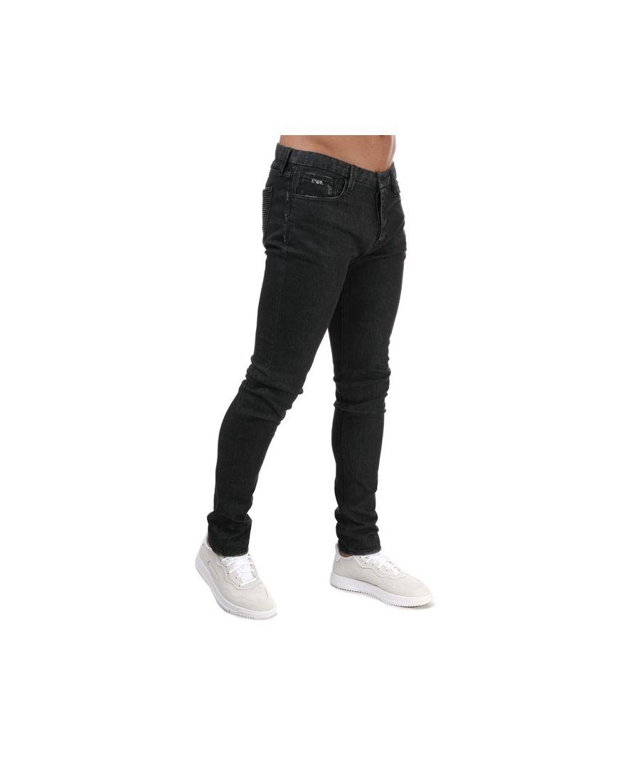 Image for Men's Armani J100 Slim Fit Jeans in Grey