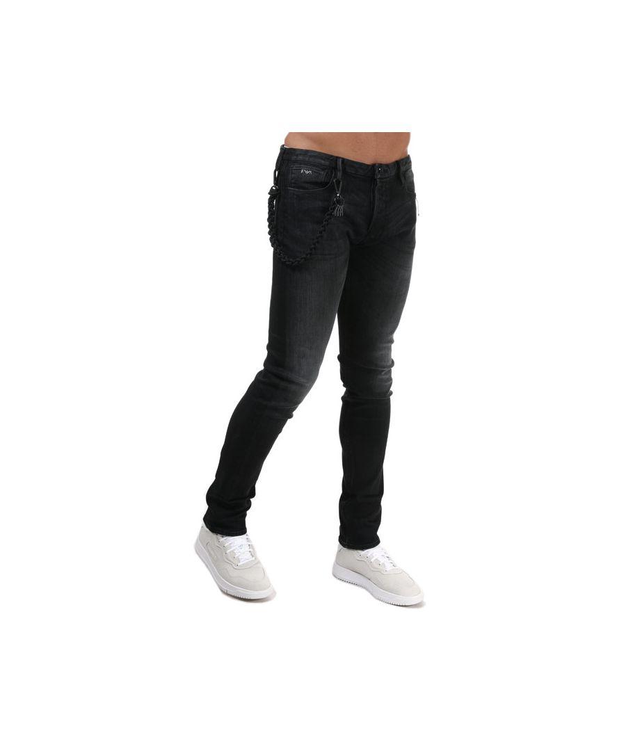 Image for Men's Armani J100 Slim Fit Jeans in Black