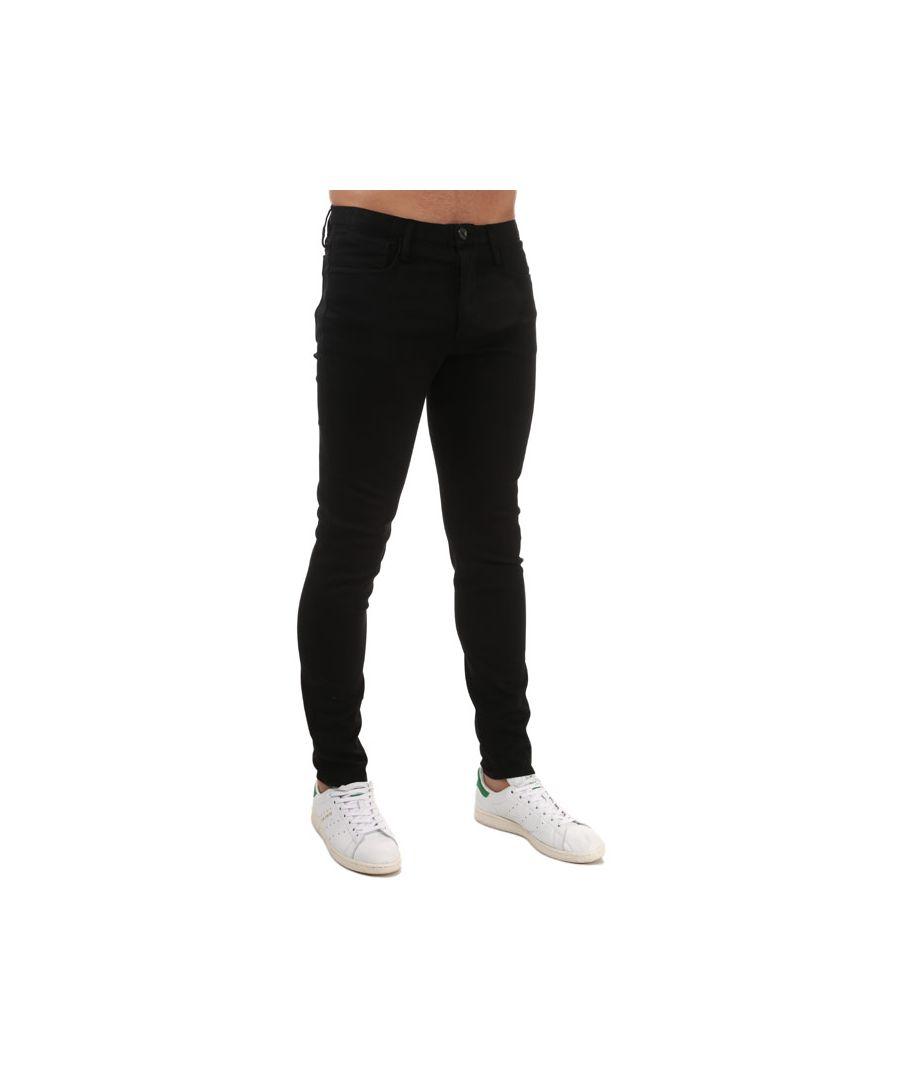 Image for Men's Armani J11 Extra Slim Fit Jeans in Black