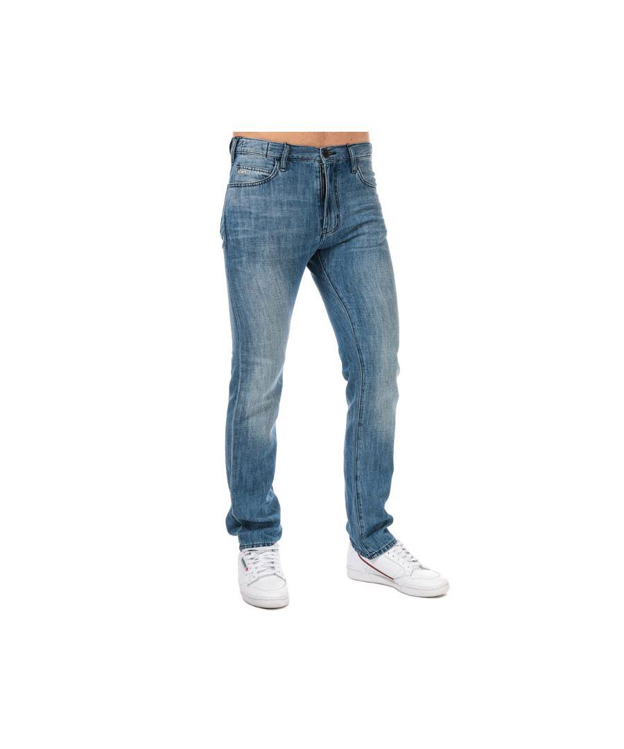 Image for Men's Armani J45 Regular Fit Jeans in Denim