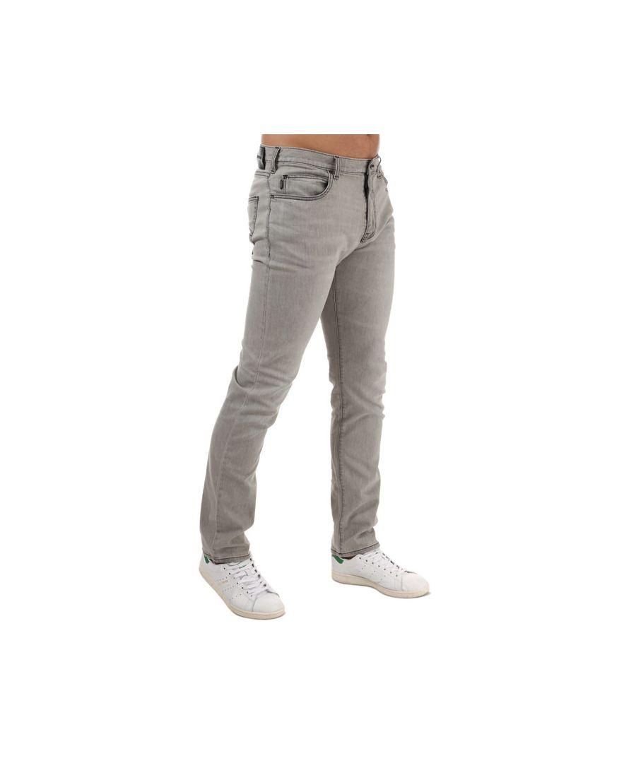 Image for Men's Armani J45 Regular Tapered Fit Jeans in Grey
