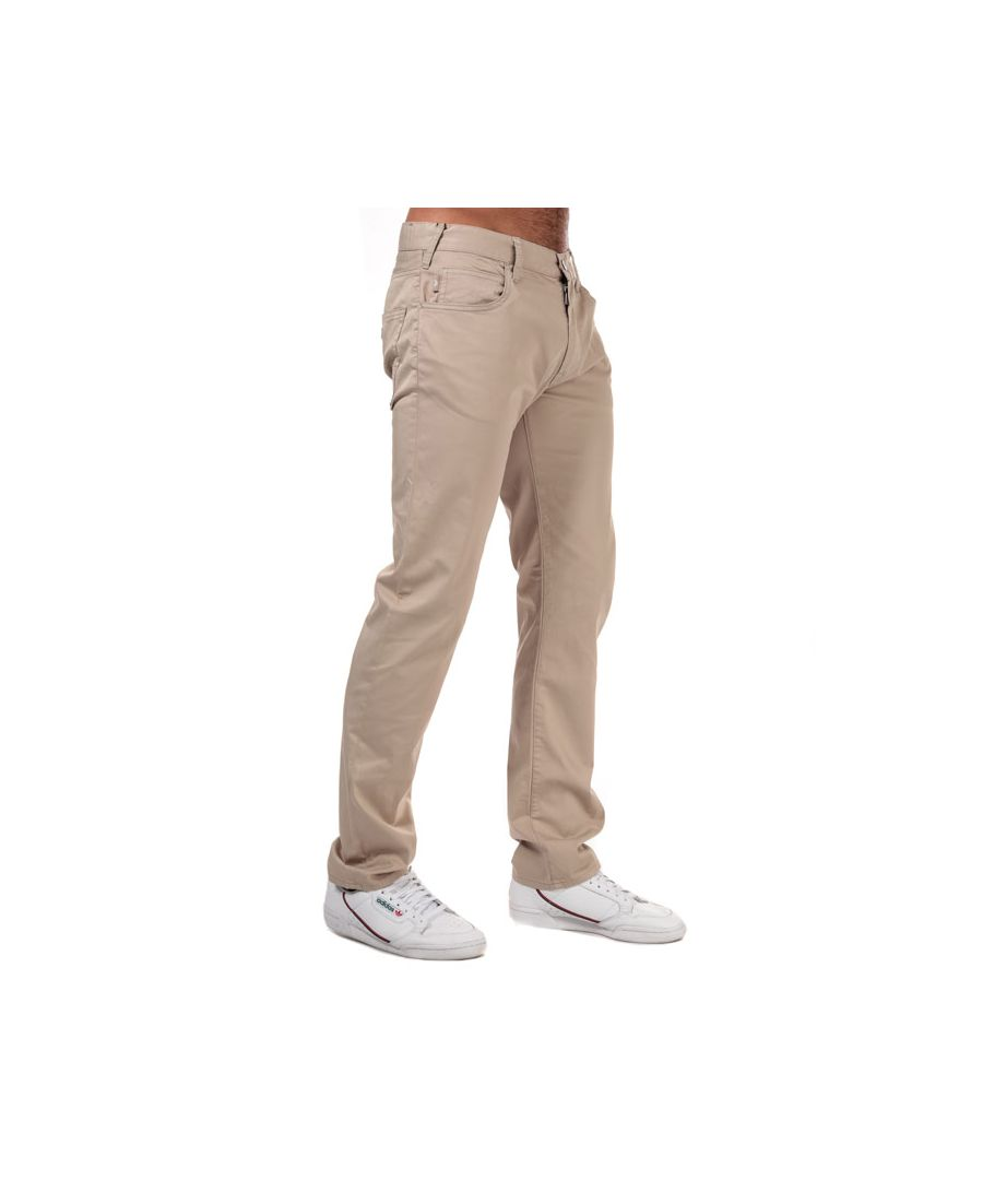 Image for Men's Armani J45 Slim Fit Chinos in Beige