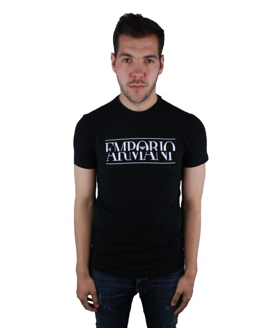 Image for Emporio Armani 3Z1T86 1J0AZ 0999 Black T-Shirt
