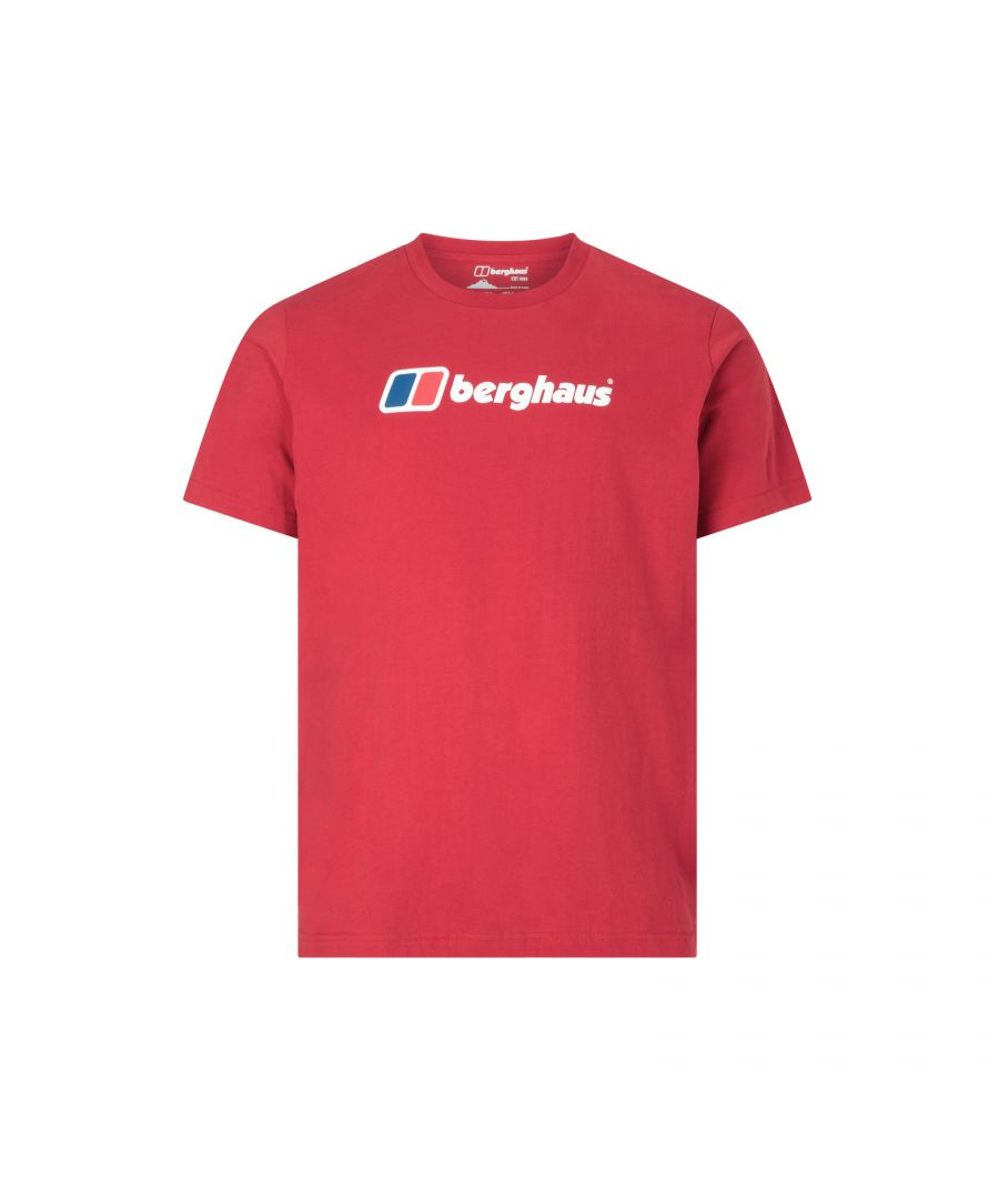 Image for Berghaus Big Corporate Logo Mens T-Shirt Red - L