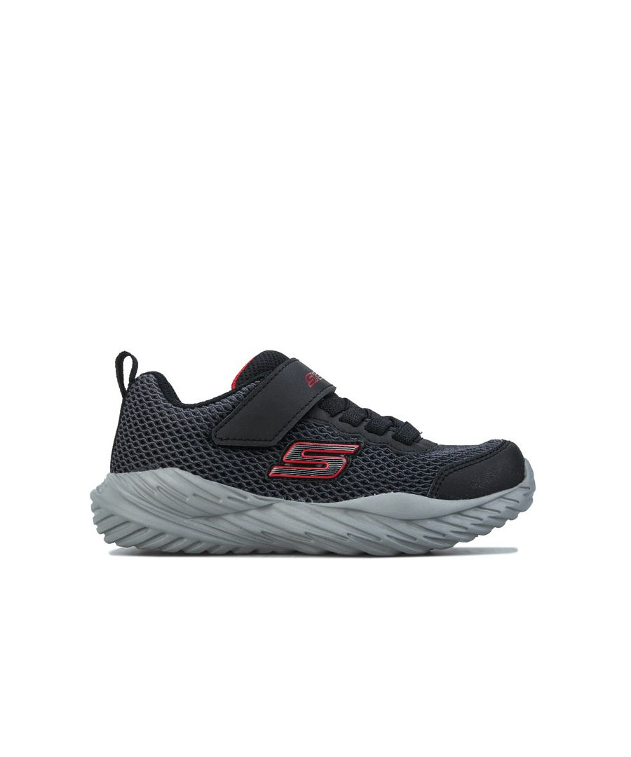 Image for Boy's Skechers Children Nitro Sprint Trainers in Black Red