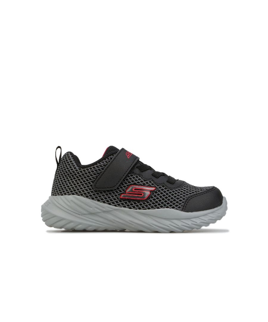 Image for Boy's Skechers Infant Nitro Sprint Trainers in Black Red