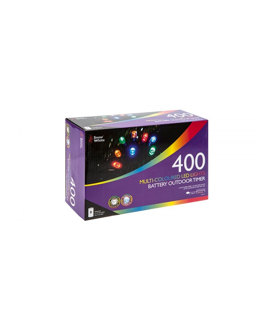 Image for 400 LED Battery Operated Lights Multi-Coloured