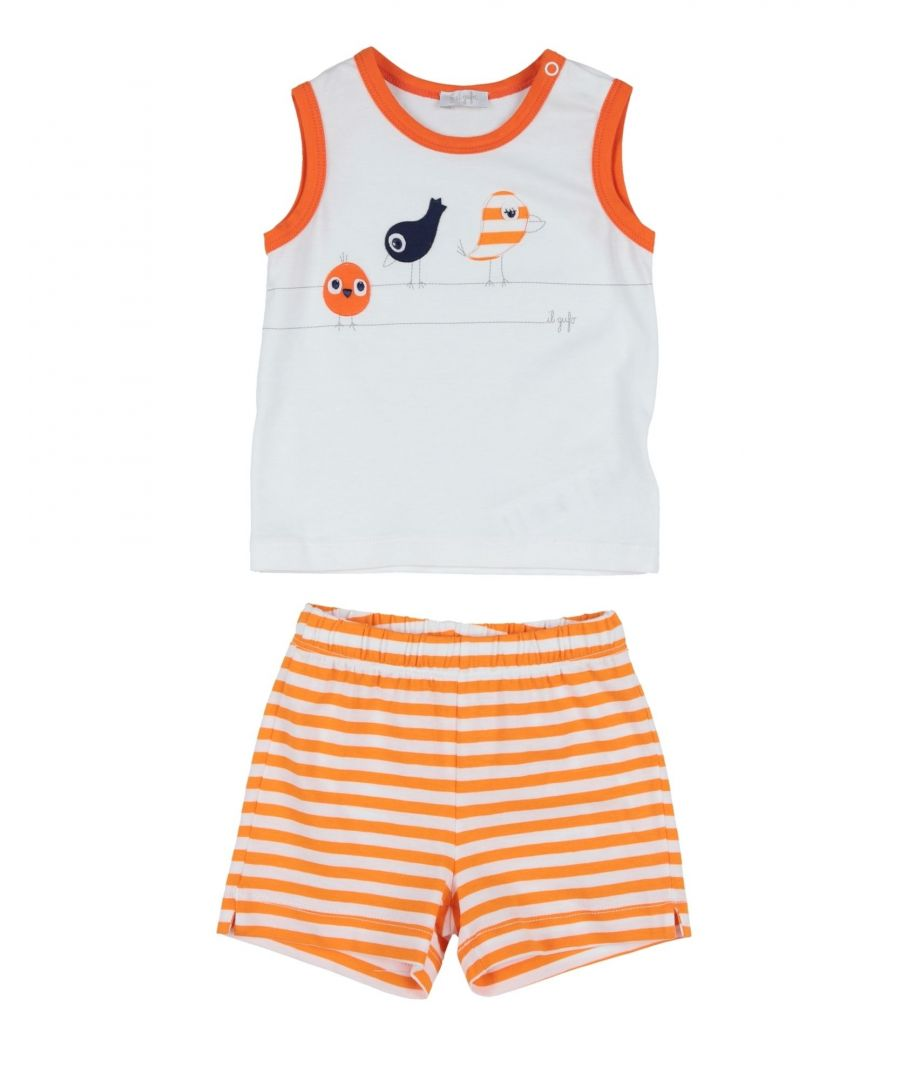 Image for BODYSUITS & SETS Girl Il Gufo Orange Cotton
