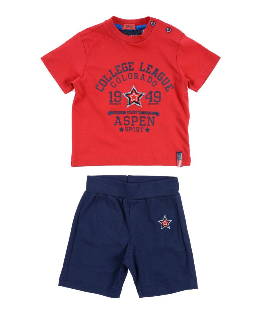 Image for Aspen Polo Club Boys' Sets Red Cotton