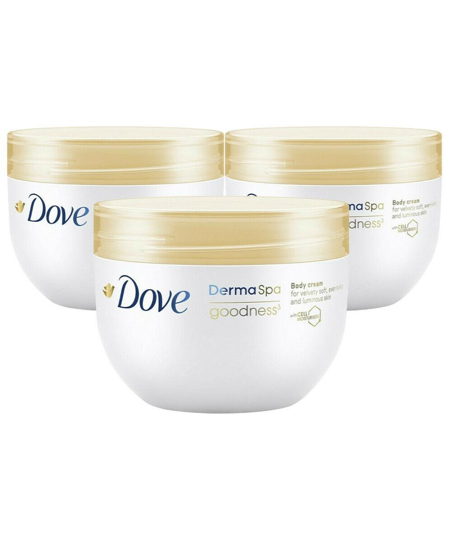 Image for Dove DermaSpa Goodness³ Body Cream 3 x 300ml