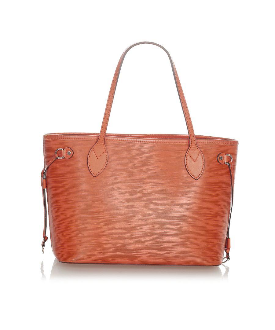 Image for Vintage Louis Vuitton Epi Neverfull PM Orange