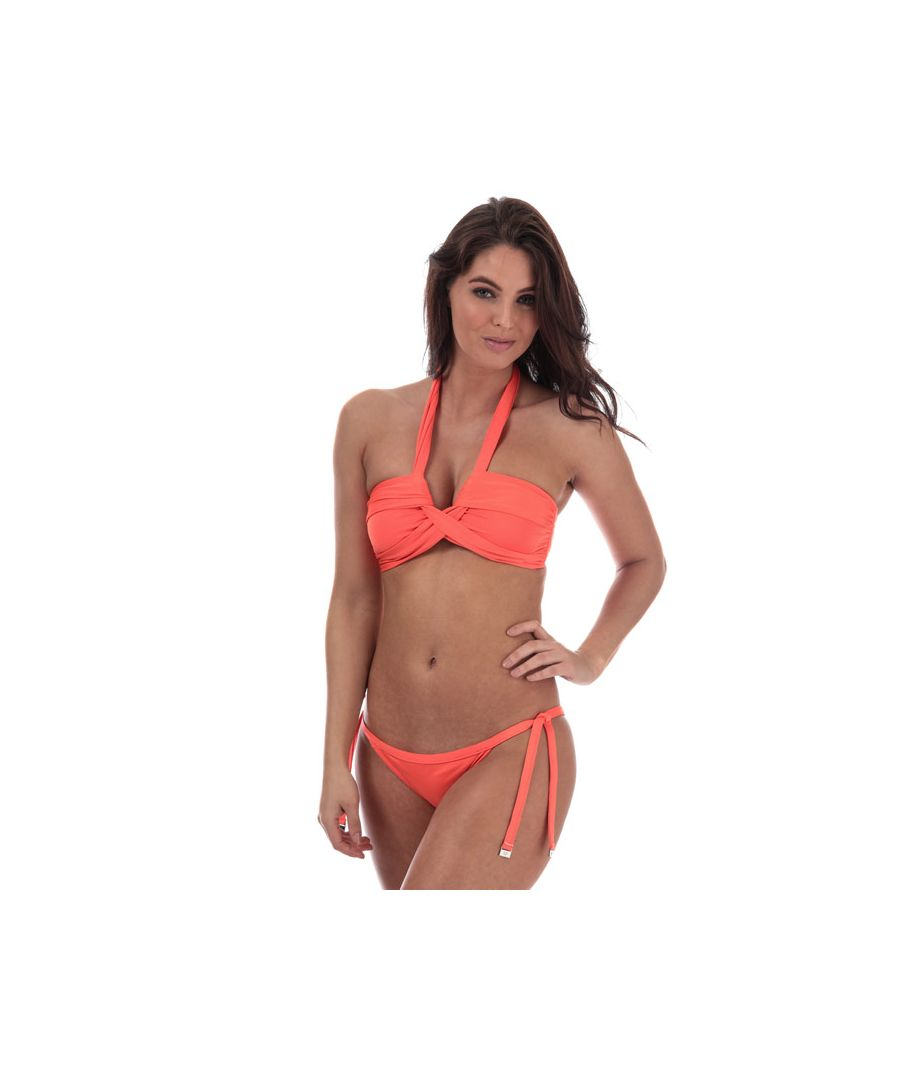 Image for Women's Seafolly Brazilian Tie Side Bikini Bottoms in Orange