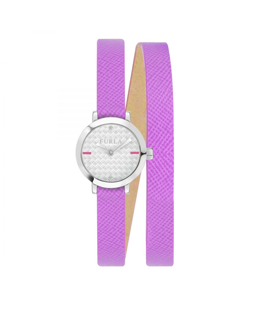 Image for Furla Womens Vittoria Silver Dial   Calfskin Leather Watch