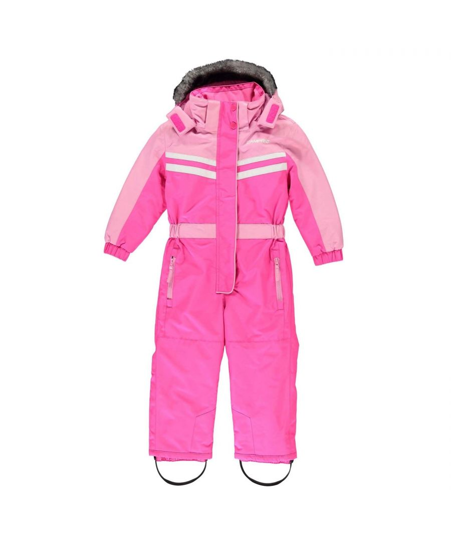 Image for Campri Kids Ski Suits Faux Fur Hooded Insulated Warmth Winter Sports Top