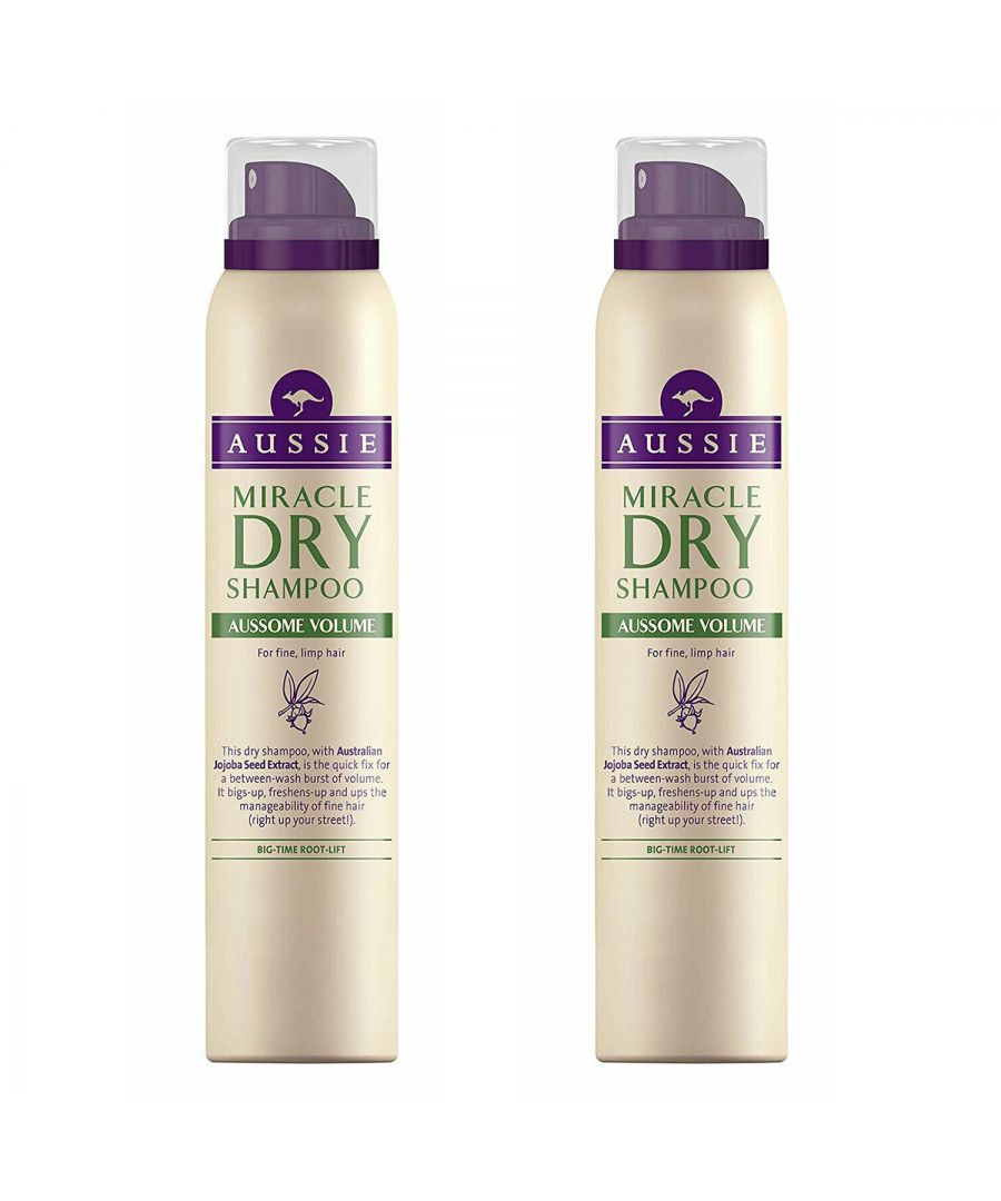 Image for Aussie Dry Shampoo Aussome Volume 2 x 180ml