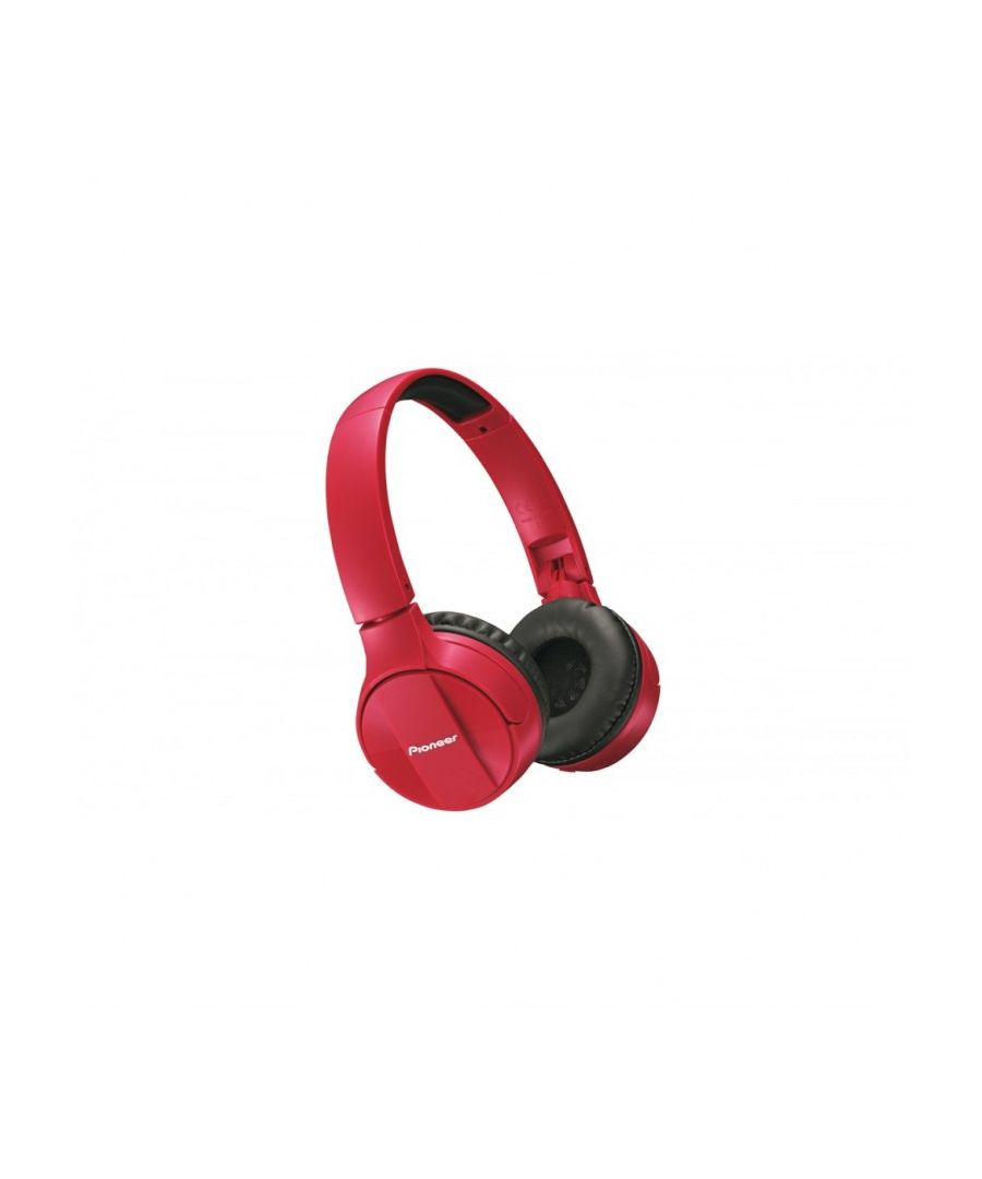 Image for Pioneer SE-MJ503-R Compact Foldable Design Headband Headphones, (Android and Iphone), Red