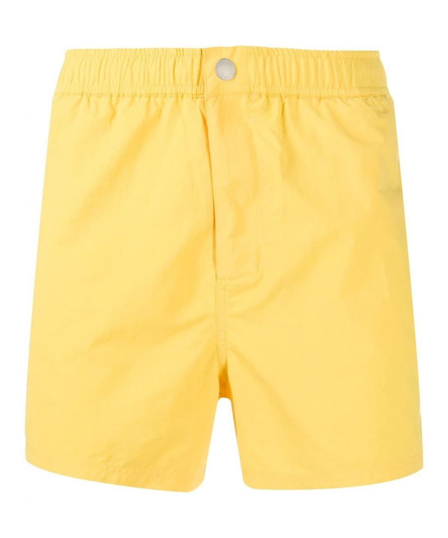 Image for KENZO MEN'S FA55BA108SEA39 YELLOW POLYAMIDE TRUNKS