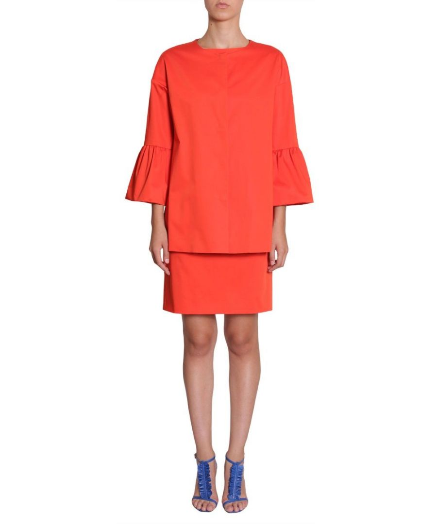 Image for BOUTIQUE MOSCHINO WOMEN'S A060208230127 RED COTTON TRENCH COAT