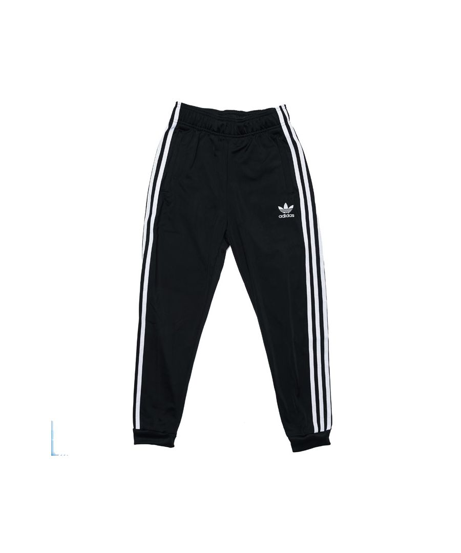 Image for Boy's adidas Originals Junior SST Track Pants in Black-White