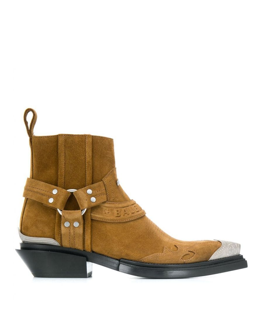 Image for BALENCIAGA WOMEN'S 579630WA7319868 BROWN SUEDE ANKLE BOOTS