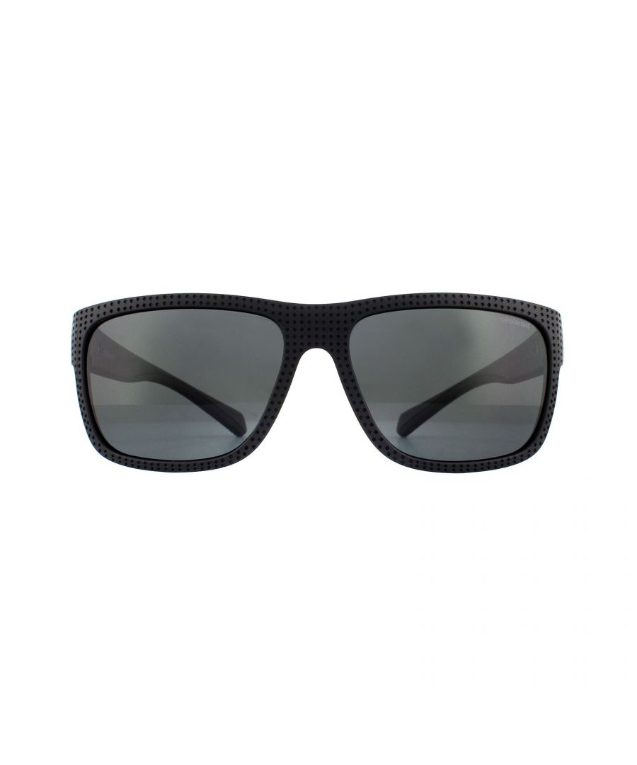 Image for Polaroid Sport Sunglasses 7025/S 003 M9 Matte Black Grey Polarized