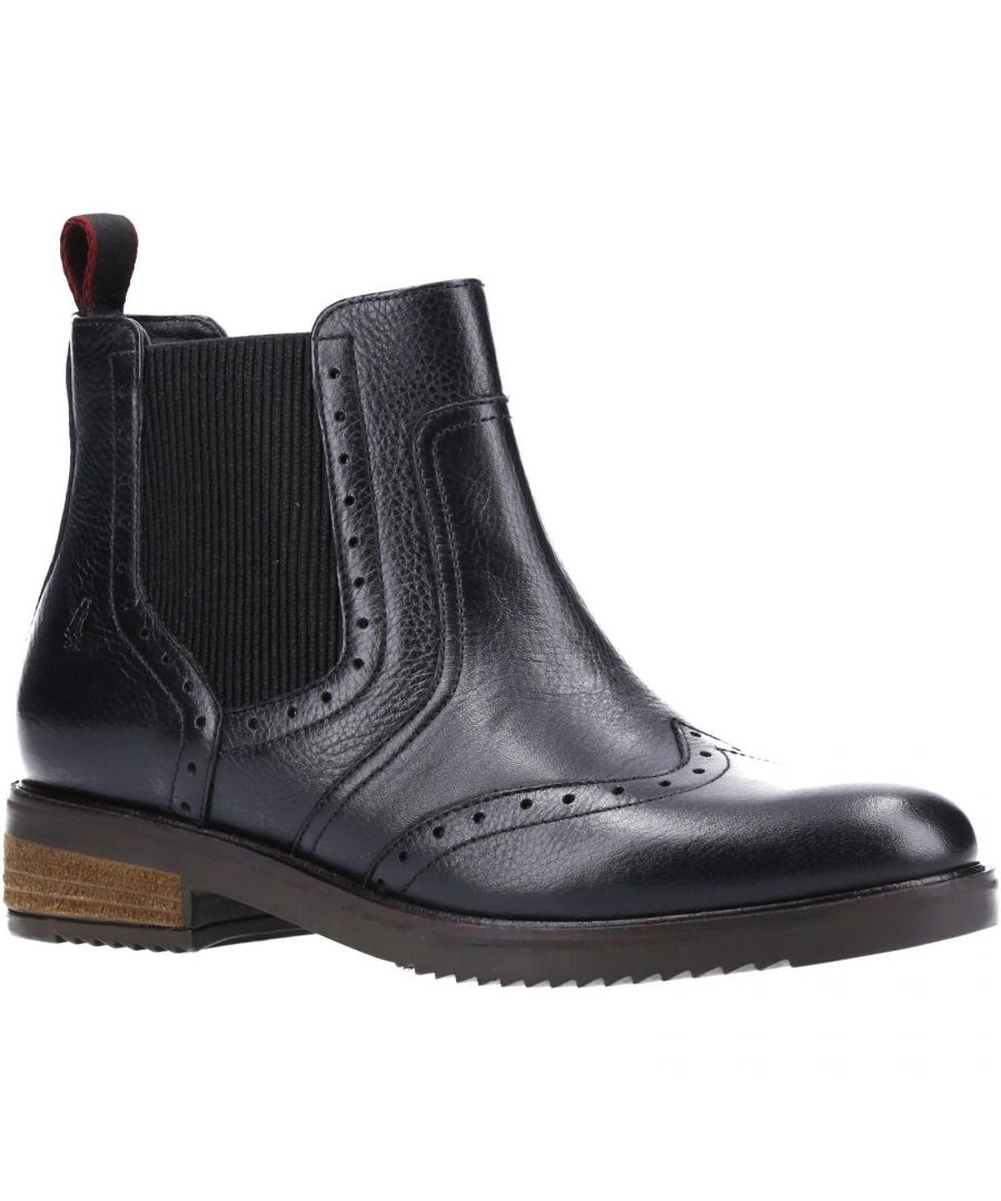 Image for Hush Puppies Womens/Ladies Brandy Leather Chelsea Boots (Black)