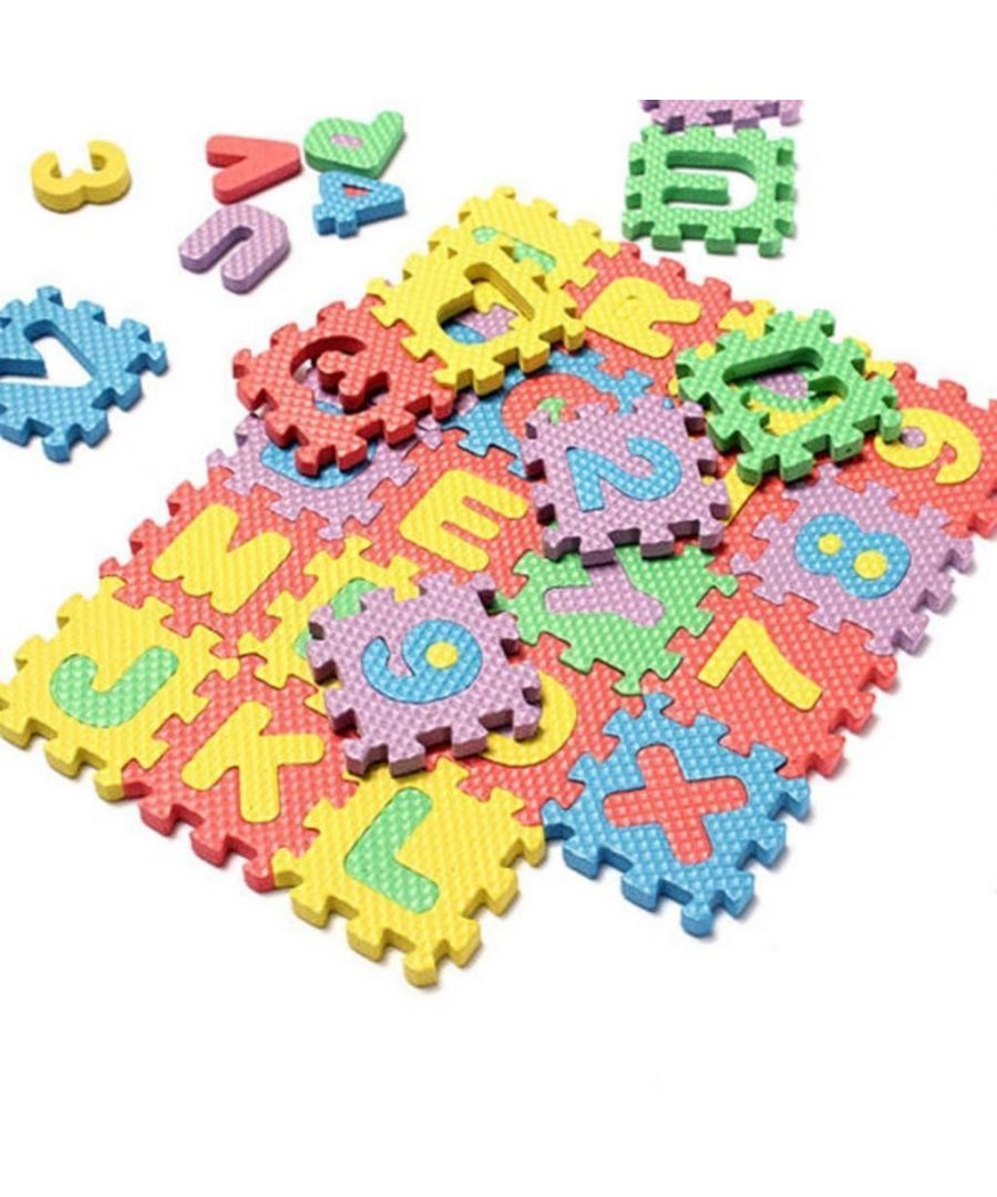 Image for 40 Piece Alphabet and Numbers Playmat