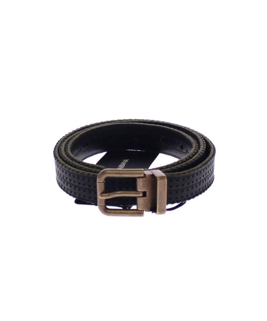 Image for Dolce & Gabbana Blue Leather Logo Belt