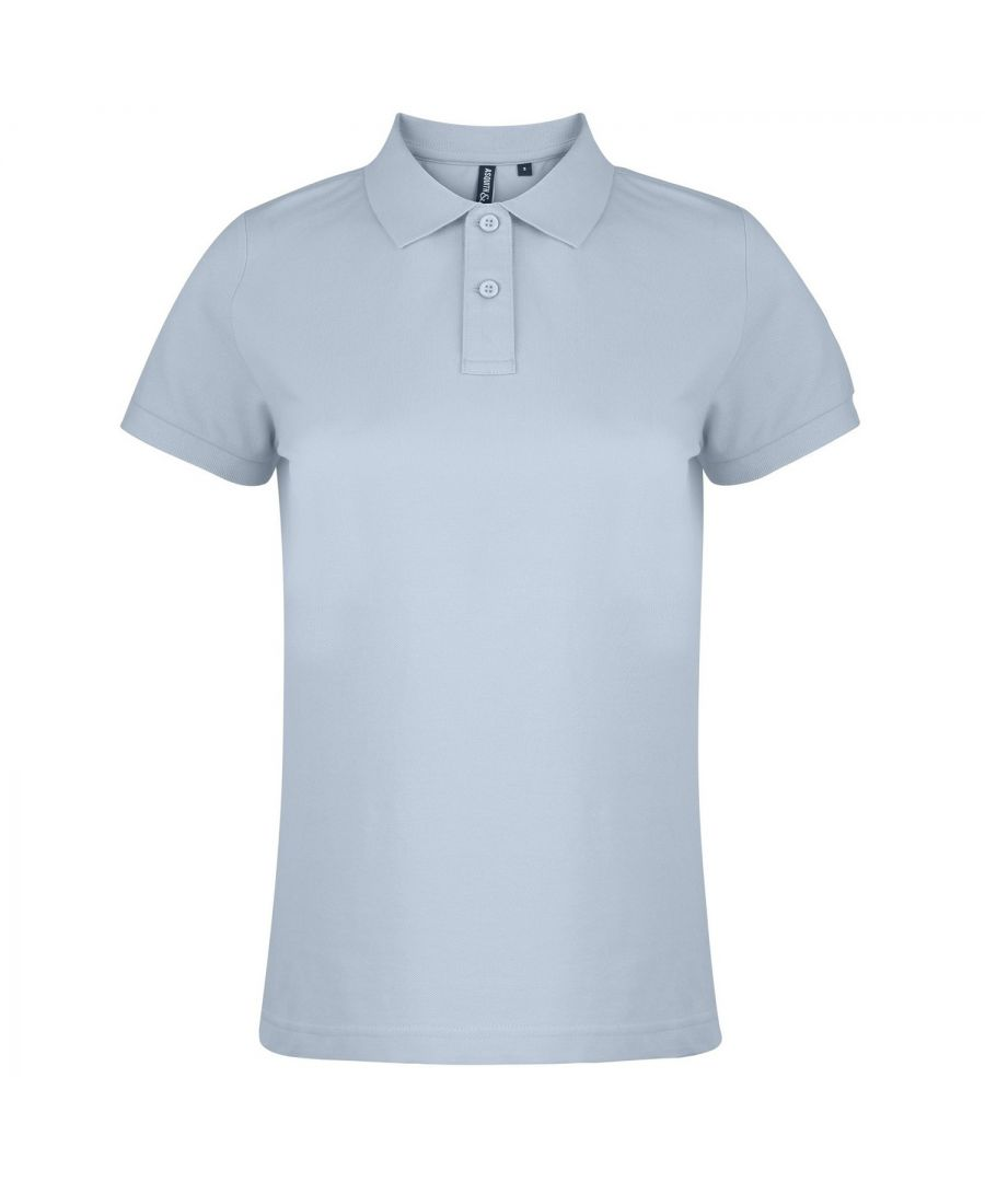 Image for Asquith & Fox Womens/Ladies Plain Short Sleeve Polo Shirt (Turquoise)