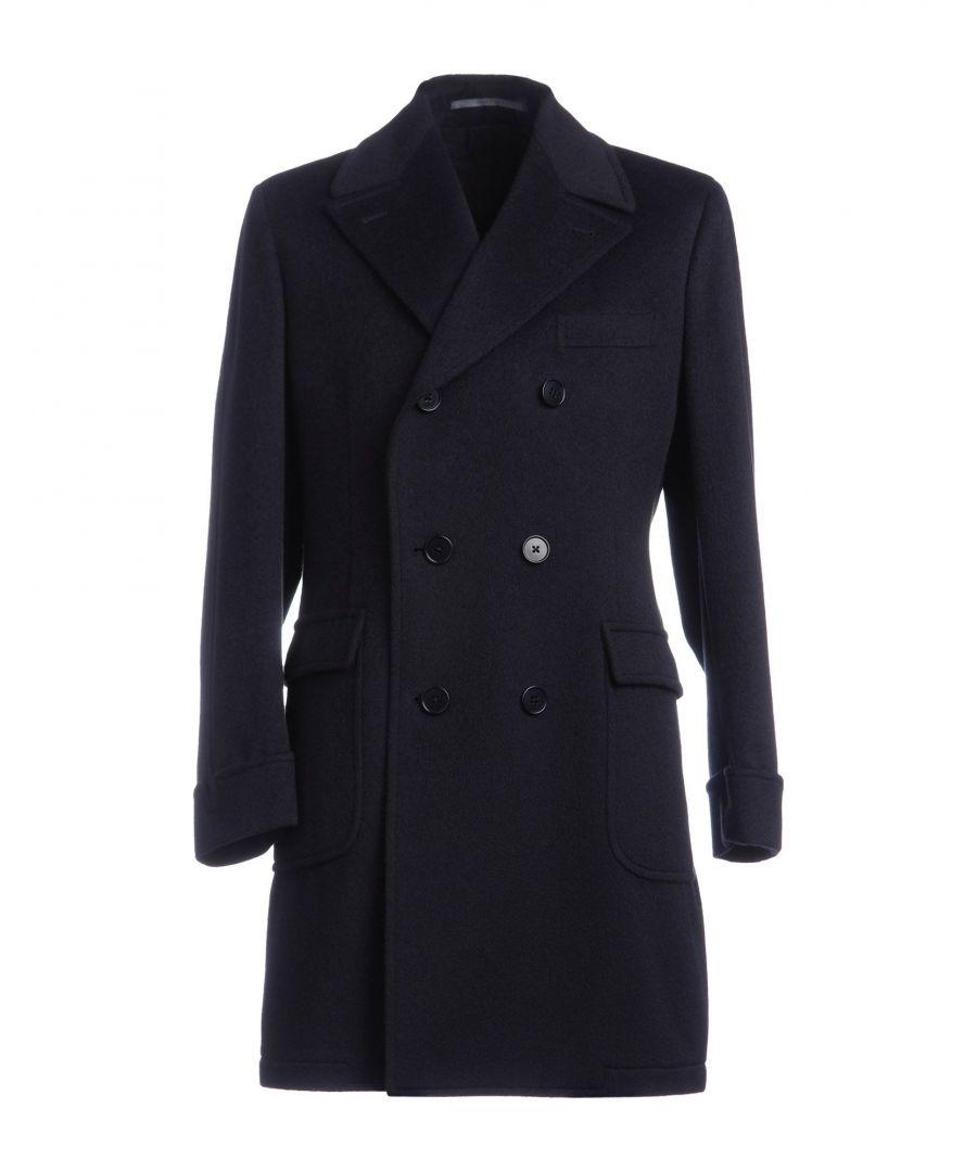 Image for Cantarelli Dark Blue Angora Double Breasted Coat
