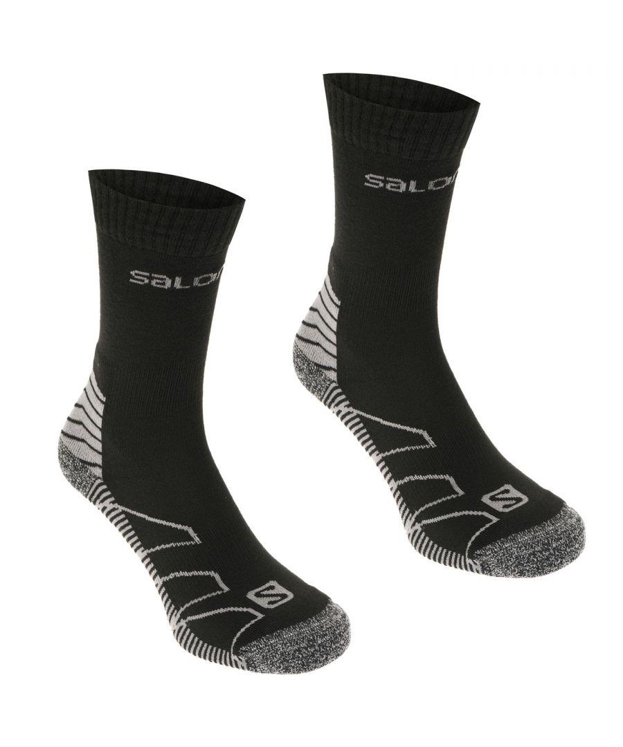 Image for Salomon Mens Lightweight 2 Pack Socks Outdoor Walking Trekking Hiking Accessory