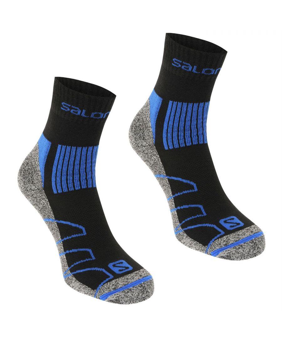 Image for Salomon Mens Merino Low 2 Pack Socks Outdoor Walking Trekking Hiking Accessory