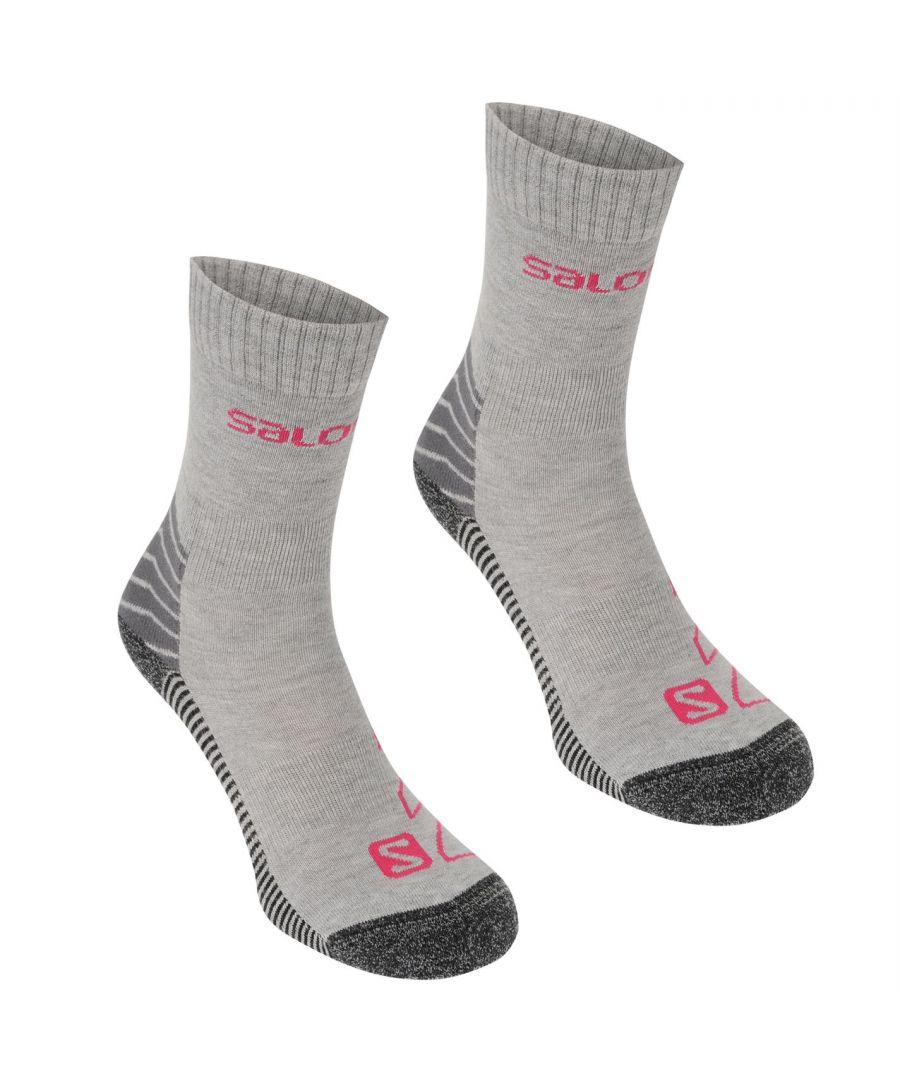 Image for Salomon Womens Lightweight Socks Outdoor Walking Trekking Hiking Accessories