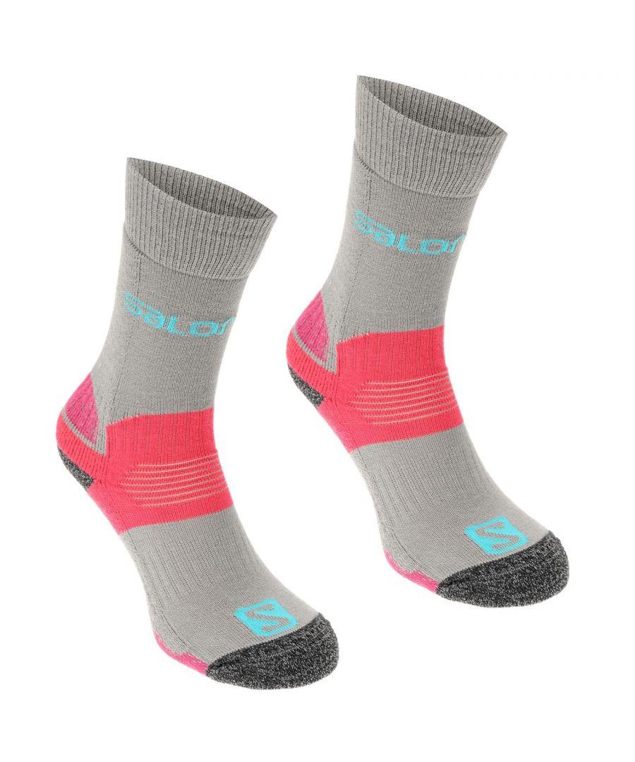 Image for Salomon Womens Midweight Socks Outdoor Walking Trekking Hiking Accessories