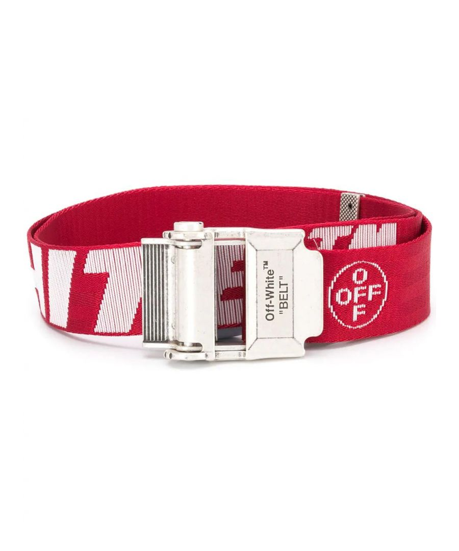 Image for OFF-WHITE MEN'S OMRB035R20F420352001 RED SYNTHETIC FIBERS BELT